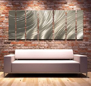 Modern Abstract Metal Wall Art Painting Sculpture Huge