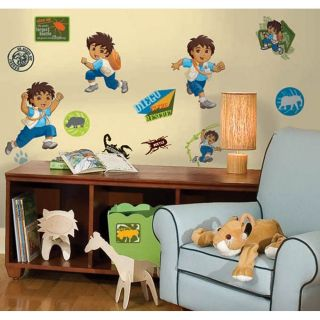 36 Go Diego Go Adventures Kids Boys Decorative Wall Decals Stickers Stick UPS NW