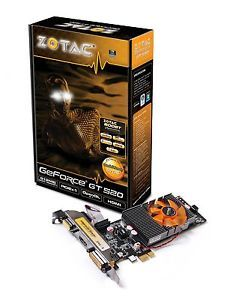 Zotac NVIDIA GeForce GT520 PCI Express x1 512MB DDR3 HDMI OpenGL Graphics Card