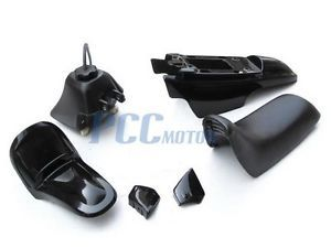 Yamaha PW50 PW 50 Plastic Seat Gas Tank Kit Black PS36