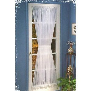 Sheer Voile Door Panels Curtains for French Doors