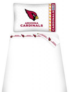 NFL Arizona Cardinals Bedding Accessories Twin Sheet Set Football Sheets Decor