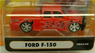 Ford F 150 Pickup Truck Flames Truckin Funline Muscle Machines Diecast 1 64