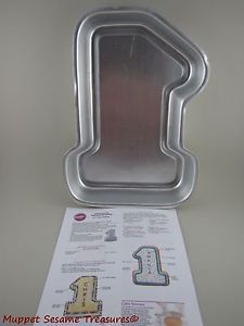 Wilton 1 Big Number One 1 Cake Pan with Instructions First Birthday Anniversary