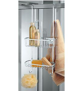 InterDesign Stainless Steel Over The Shower Door Caddy Shower Organizer