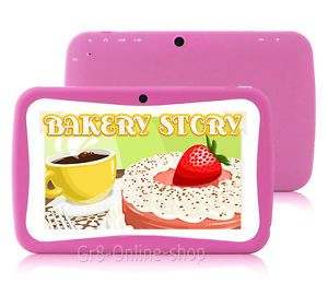 "Pink 7"" Tablet PC Android 4 1 Mid 4GB Dual Camera for Children Kid Girl Boy"