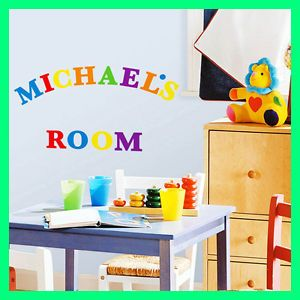 Rainbow Colored Alphabet 73 Wall Stickers Kids Name Letters Room Decor Decals