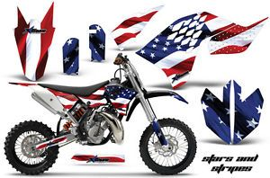 AMR Racing MX Dirt Bike Offroad Graphics Decal Kit KTM SX65 65 2009 USA Flag