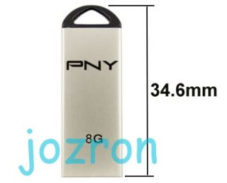 PNY M1 Attache 8GB 8g USB Flash Pen Drive Stick Metal