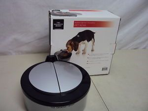 The Sharper Image Motion Activated Pet Dog Cat Food Bowl Dish Sifb 01 Opened