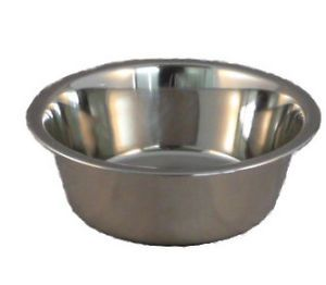 Stainless Steel Standard Pet Dog Puppy Cat Food or Water Bowl Dish Durable