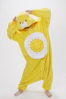 KIGURUMI Costume Pajamas SAZAC Fun Shine Bear Care Bear Fleece Halloween JP New