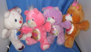1991 Kenner Care Bears Proud Heart American Flag Stars Bear