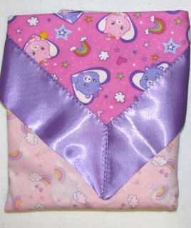Care Bears Pink Summerweight Security Blanket