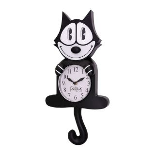 Felix The Cat Classic Animated Wall Clock with Moving Eyes and Tail
