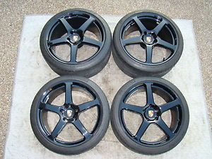 HRE Custom P45L Monoblock Forged Wheel Tire Set for Porsche 970 Panamera