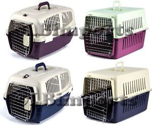 Large Plastic Pet Dog Puppy Cat Kitten Rabbit Transport Carrier Box Crate Cage