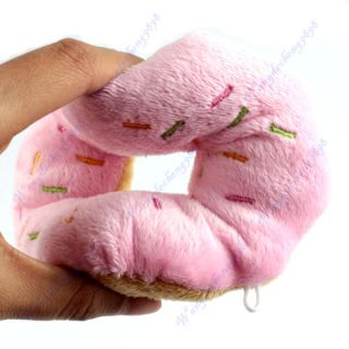 Pet Dog Puppy Cat Animal Squeaky Squeaker Sound Toy Chews Cotton Wool Donut New