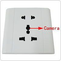 White Spy Electronic Outlet with Hidden Camera