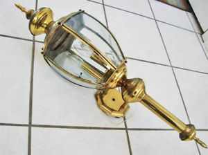 Huge 3' Outdooor Brass Light Fixture Wall Mount Lantern
