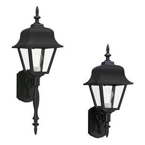 Sea Gull Seagull Lighting 8765 12 Black Outdoor Wall Mount Lighting Fixture