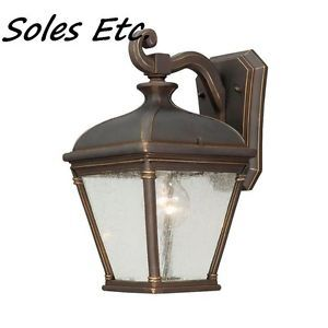 Hampton Bay Wall Mount 1 Light Outdoor Rubbed Bronze Lantern