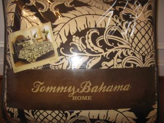 Tommy Bahama Cape Verde Tropical Brown Palm Pineapple 4P Queen Comforter Set