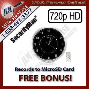 Self Contained Wall Clock Hidden Camera Nanny Cam Security Recorder DVR Spy 32GB