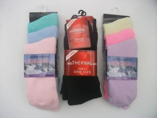 3 Pairs Womens Ladies Girls Winter Thermal Socks New