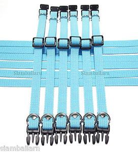 Wholesale Lot 12 Blue Sky Nylon Collars Mini Small Puppy Pet Toy Dog Cat Collars