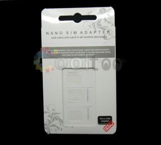 iPhone 5 Nano Sim Card Adapter Turn to Micro Sim Standar Sim