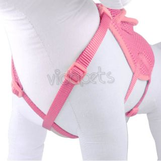 "16 20"" Pink Backpack Dog Harness Adjustable Comfort Wrap Pet Collar Medium"