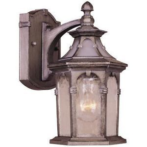 Lantern Light Outdoor Wall Mount Oxide Silver Garage Porch Door Entry New