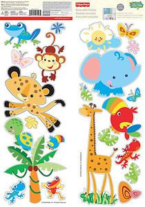 Fisher Price Rainforest Animals Wall Stickers Decor
