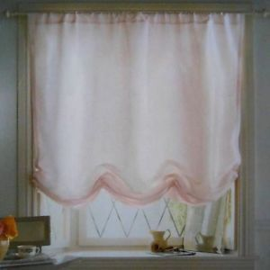 Simply Shabby Chic Balloon Valance Soft Pink Window Shade Faux Silk New