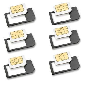 6 x Small Mini Micro Sim Card Adaptor Adapter US Seller