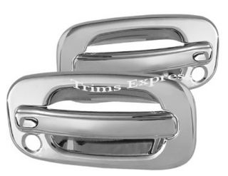 1999 2006 Chevy GMC Silverado Sierra 2 Chrome Door Handle Covers w PSKH