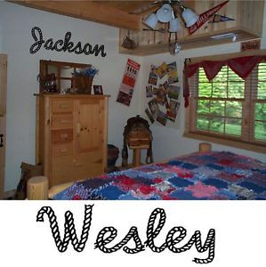 Cowboy Roper Western Custom Name Boys Wall Decor Decal