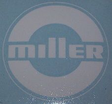 "Miller Electric Arc Welders White 4"" Die Cut Welding Decals 1 Pair"