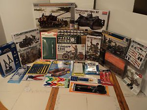 WWII Lot of 9 Model Kits Diorama Accessories Supersale Must See