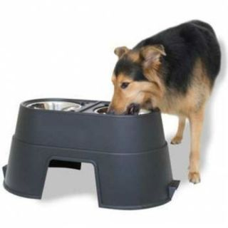 "Our Pets Elevated Healthy Pet Dog Cat Diner Feeder Dish Bowl Waterer 12"" H"