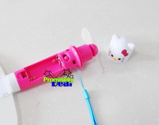 2 in 1 Cute Hello Kitty Handheld Portable Fan Folding Electric Fan Pink