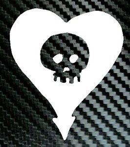 Alkaline Trio Heart Skull Logo Car Decal Vinyl Sticker