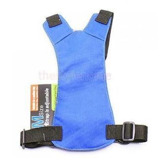 Blue Car Vehicle Dog Pet Safety Seat Belt Harness M New