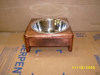 Pet Dog Cat Raised Feeder Stainless Bowls Free Color