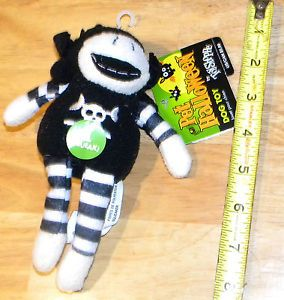 Pet Halloween Squeaky Sock Monkey Plush Fun Chew Toy Dogs Puppies Med XLarge