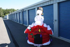 7ft Tall Snoopy as Red Baron on Dog House Christmas Inflatable Yard Decor