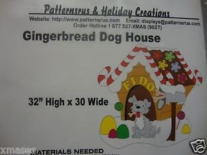 Gingerbread Dog House Christmas Woodworking Yard Art Pattern Patternsrus