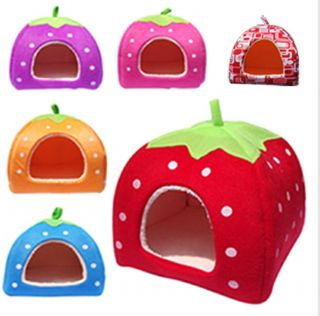 Extra Large Soft Strawberry Pet Houses Cat Bed Home Dog Kennel Cat Warm Houses