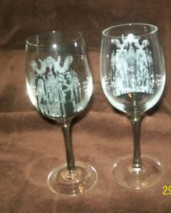 Nightmare Before Christmas Wine Glasses